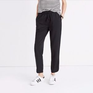 Madewell Track Trousers in Solid Black- Small